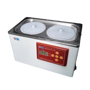 BOXUN/博迅 电热恒温水浴锅 HH.S11-2 RT+5~100℃ 单列双孔/305×160×130mm 1台