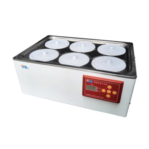 BOXUN/博迅 电热恒温水浴锅 HH.S21-6 RT+5~100℃ 双列六孔/470×305×130mm 1台
