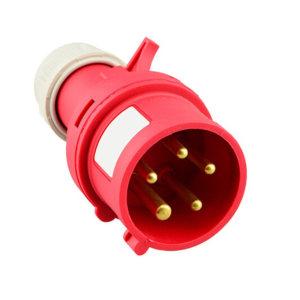 DELIXI/德力西 DEP2系列IP44工业插头 DEP2-025 32A 5芯 415V 1个