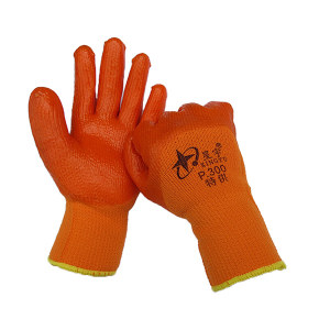 XINGYU/星宇 PVC毛圈手套 P300 均码 橙色 1副