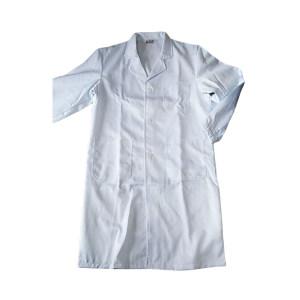 GC/国产 精工呢加厚长袖白大褂 白大褂 2XL 翻领松紧袖口 含棉15% 1件