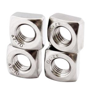 ZKH/震坤行 四方薄螺母 304 本色 M4 DIN562 1盒