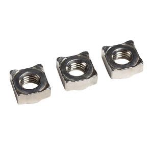 ZKH/震坤行 四方焊接螺母 304 本色 M6 DIN928A 1盒