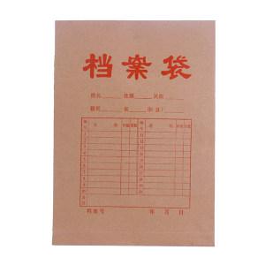 GC/国产 牛皮纸档案袋 250g A4  50个/包 1包