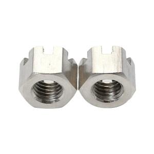 ZKH/震坤行 六角开槽螺母 304 本色 M8 GB/T6178 允许误差3% 1包