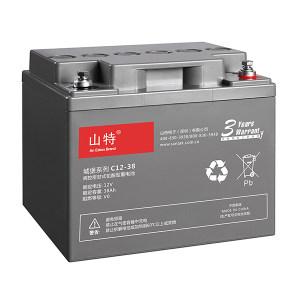 SANTAK/山特 阀控式铅酸蓄电池 C12-38 197*165*170/11.4KG 1节
