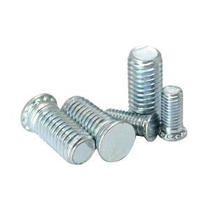 ZKH/震坤行 压铆螺钉 1022 碳钢 蓝白锌 FH-M4-12 1包