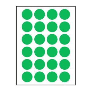 ZHUOLIAN/卓联 自粘性标签(彩色圆点) ZL31 直径16mm 绿色 1包