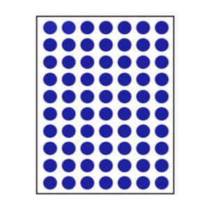 ZHUOLIAN/卓联 自粘性标签(彩色圆点) ZL30 直径10mm 蓝色 1包