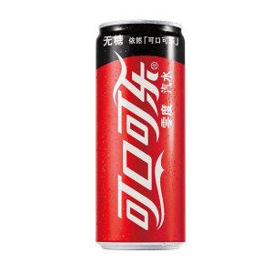 COCA-COLA/可口可乐 零度碳酸饮料 零度 碳酸饮料 330mL×24罐 1箱