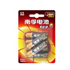 NANFU/南孚 碱性电池 LR6/AA 5号 6粒装 1板