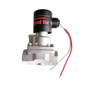 PNEULEAD/纽立得 GH系列两位两通活塞式高压流体电磁阀 GH-10-5D G1 内螺纹接口 不锈钢阀体 公称压力0.5~40bar 1个