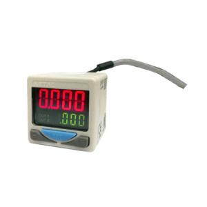 AIRTAC/亚德客 DPS系列电子式数显压力开关 DPSP1-01020 压力范围-100~100kPa 接口Rc1/8 PNP DIN插座式 线长2m 1个