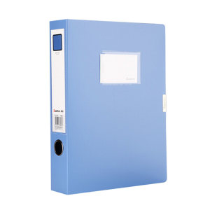 COMIX/齐心 PP档案盒 HC-75 A4 背宽78mm 蓝色 1个
