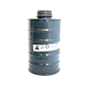 TANGREN/唐人 4#中型滤毒罐 P-K-3 防护氨及硫化氢 灰色 适配TF1A面具 1个
