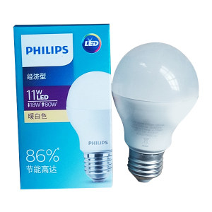 PHILIPS/飞利浦 LED球泡(经济型) 11W A60 E27  865白光 1个