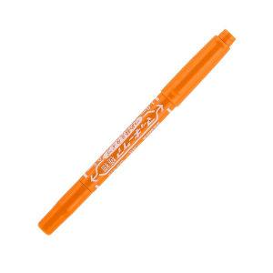 ZEBRA/斑马 YYTS5 小麦奇双头油性记号笔 YYTS5 橙色 细头1.0-1.3mm 极细头 0.5mm 1支