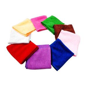 MINYIN/敏胤 超细纤维珊瑚绒多功能清洁巾小号 M3030 300×300mm 400gms 单条装混色 1条