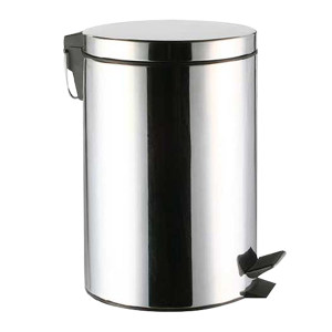 MINYIN/敏胤 410不锈钢脚踏式垃圾桶含内胆(中号) L2008 φ230×330mm 8L 不锈钢镜面 1个