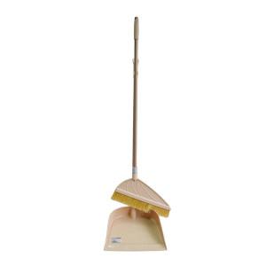MINYIN/敏胤 精品鬃毛扫把簸箕套装 JWL-9009 簸箕杆76cm×簸箕26cm 扫把杆86cm×扫把头29cm 颜色随机 1套