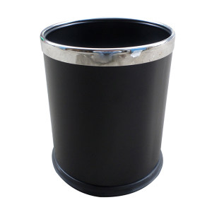 ZIREN/滋仁 时尚圆形烤漆垃圾桶 φ22.5cm×H27cm φ225×270mm 6L 黑色 1个