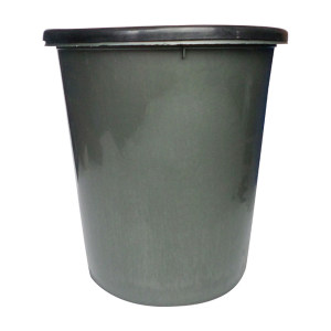 ZIREN/滋仁 扣式圆形垃圾桶 LT-022 φ260×280mm 8L 灰色 1个