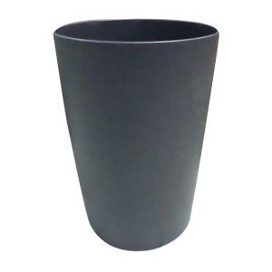 ZIREN/滋仁 阻燃性圆形垃圾桶 8L Φ21cm×30cm 8L 黑色 1个