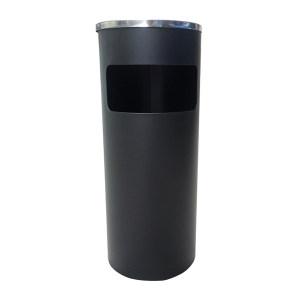 ZIREN/滋仁 圆形烤漆烟灰桶 LT-049 直径24.5cm 高60cm 黑色 12L 1个