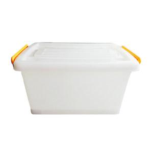 ZIREN/滋仁 塑料整理箱 105型 4号 39.5×28×19.5cm 透明白 12L 1个