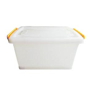 ZIREN/滋仁 塑料整理箱 107型 2号 55×40.5×33cm 透明白 45L 1个