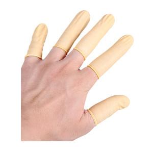 HYJJ/翰洋洁净 黄色防静电乳胶指套 H-6010 均码 无粉 1包