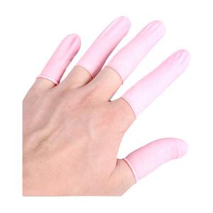 HYJJ/翰洋洁净 粉色防静电乳胶指套 H-6010 均码 无粉 1包