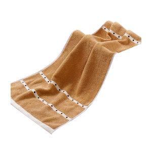 KING SHORE/金号 波点绵柔毛巾 4120 34×80cm 棕色 100%纯棉(缎档及装饰部分除外) 100g 1条
