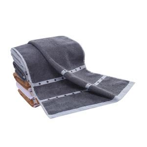 KING SHORE/金号 波点绵柔毛巾 4120 34×80cm 深灰 100%纯棉(缎档及装饰部分除外) 100g 1条
