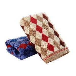 KING SHORE/金号 纯棉提缎大气英伦格毛巾 G1745 34×72cm 棕色 100%纯棉(缎档及装饰部分除外) 90g 1条