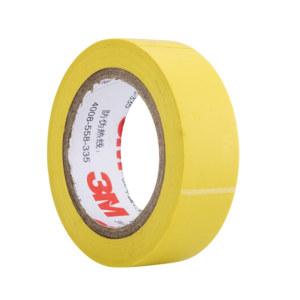 3M PVC电气绝缘胶带-普通型 1500 黄色 18mm×10m×0.13mm 1卷