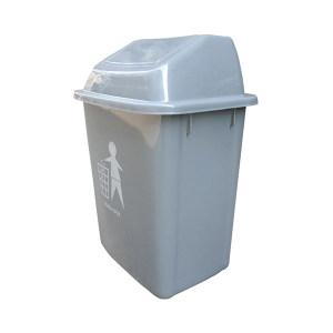 ZIREN/滋仁 摇盖式垃圾桶 LT-001 420×330×591mm 30L 灰色 1个