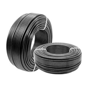 QIFAN/起帆 铜芯聚氯乙烯绝缘聚氯乙烯护套软电线 RVV-300/500V-2×1 护套黑色 1米