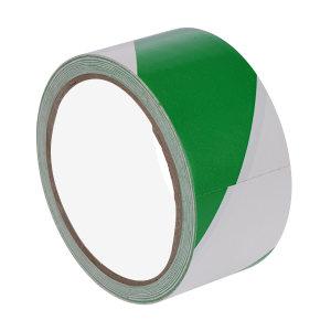 SONGNING/松宁 PVC地面警示划线胶带 SN766-2 绿白 75mm*22m 1卷