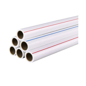 """LVJIE/绿洁 PPR冷热水管 32(1"""")×4.4mm 4m DE32×4.4mm 白色 4m每根 1米"""