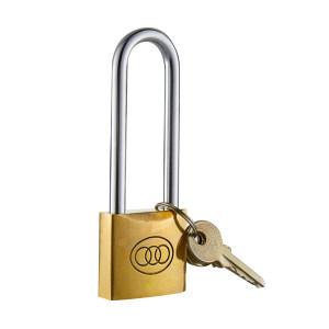 SANHUAN/三环 长梁黄铜挂锁 L262(25#) 不通开 1把