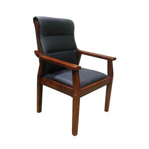 JIDA/集大 经典实木椅 JDD6021-NP 尺寸630×560×980mm 牛皮 1把