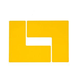 """BRADY/贝迪 TOUGHSTRIPE L型警示地贴 104457 黄色 4""""*10"""" 1包"""