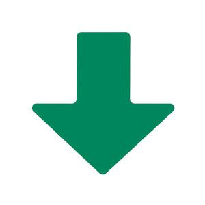 "BRADY/贝迪 TOUGHSTRIPE箭头警示地贴 104413 绿色 2""*5"" 100个/包 1包"