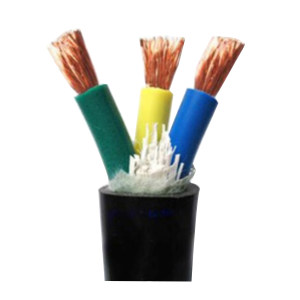 JINCHENG/津成 铜芯聚氯乙烯绝缘聚氯乙烯护套软结构电力电缆 VVR-0.6/1kV-3×10+1×6 护套黑色 1米