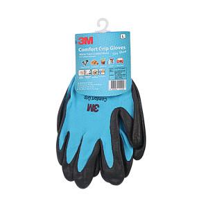 3M 舒适型防滑耐磨手套 XI003851825 L 蓝色 1副