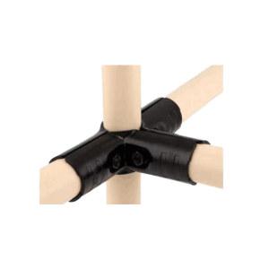 AIWIN 黑色接头 HJ-3P 金属材质 适用于四根柔性管组合成相三维91°结构 1套