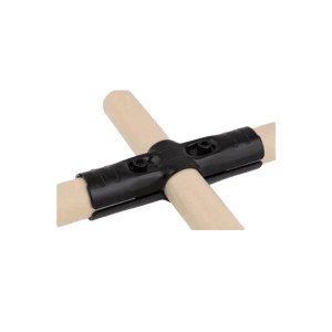 AIWIN 黑色接头 HJ-4P 金属材质 适用于三根柔性管组合十字形结构 1套
