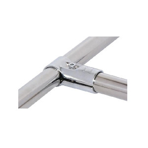 AIWIN 镀铬接头 HJ-1D 金属材质 适用于两根柔性管组合成相对固定的T型结构 1套