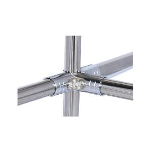 AIWIN 镀铬接头 HJ-3D 金属材质 适用于四根柔性管组合成相三维91°结构 1套